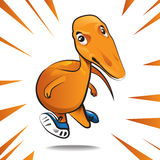 Cartoon dinosaur character of running Royalty Free Stock Photography