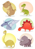 Cartoon Dinosaur Collection Stock Image