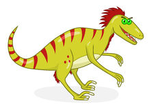 Cartoon dinosaur deinonychus Royalty Free Stock Images