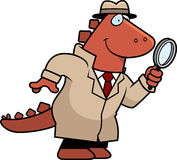Cartoon Dinosaur Detective Royalty Free Stock Photography