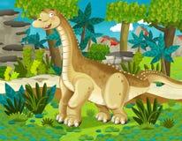 Cartoon dinosaur diplodocus Stock Photography