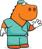 Cartoon Dinosaur Doctor Stock Photos