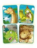 Cartoon dinosaur exercise page Royalty Free Stock Image
