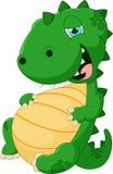 Cartoon dinosaur glut eating Stock Photography