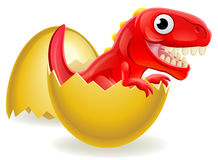Cartoon Dinosaur Hatching From Egg Royalty Free Stock Photos