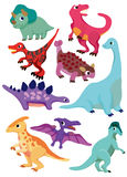 Cartoon Dinosaur icon. Vector drawing Royalty Free Stock Photography