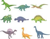 Cartoon dinosaur icon royalty free illustration