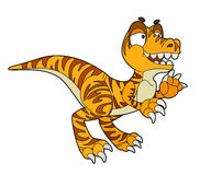 Cartoon dinosaur - illustration for the children. Beautiful and colorful dinosaur illustration Stock Photo