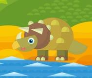Cartoon dinosaur - illustration for the children Stock Photos