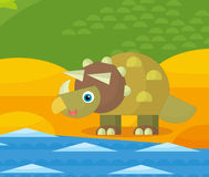 Cartoon dinosaur - illustration for the children Royalty Free Stock Images