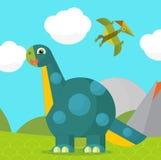 Cartoon dinosaur - illustration for the children Stock Images