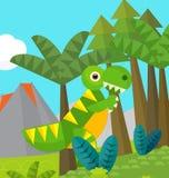 Cartoon dinosaur - illustration for the children Stock Photo