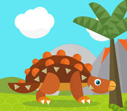 Cartoon dinosaur - illustration for the children Royalty Free Stock Photo