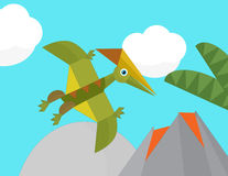 Cartoon dinosaur - illustration for the children Royalty Free Stock Image