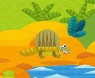 Cartoon dinosaur - illustration for the children Stock Photography