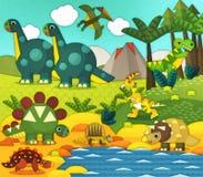 Cartoon dinosaur - illustration for the children Royalty Free Stock Images