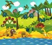 Cartoon dinosaur - illustration for the children Royalty Free Stock Photos