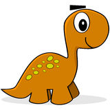 Cartoon dinosaur Stock Images