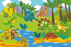 Cartoon dinosaur land Stock Image