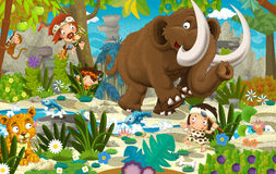 Cartoon dinosaur land Stock Images