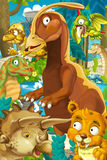 Cartoon dinosaur land Royalty Free Stock Image