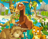 Cartoon dinosaur land Royalty Free Stock Images