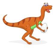 Cartoon dinosaur oviraptor Stock Image