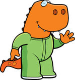 Cartoon Dinosaur Pajamas Royalty Free Stock Image