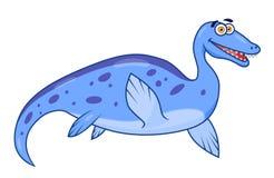 Cartoon dinosaur plesiosaurus Royalty Free Stock Photos