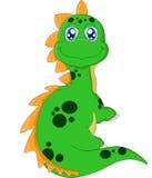 Cartoon dinosaur posing Royalty Free Stock Image
