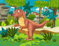 Cartoon dinosaur raptor Royalty Free Stock Images