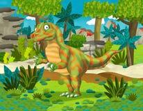 Cartoon dinosaur raptor Stock Image