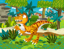 Cartoon dinosaur raptor Royalty Free Stock Photos