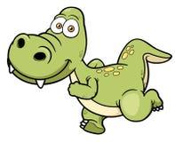 Cartoon dinosaur running Stock Photography
