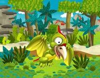 Cartoon dinosaur saber tooth Royalty Free Stock Image