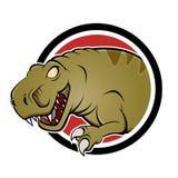 Cartoon dinosaur sign Stock Images