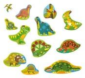 The cartoon dinosaur stickers - isolated Royalty Free Stock Photography