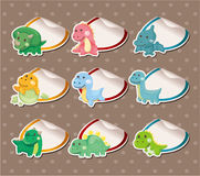 Cartoon dinosaur Stickers Label Royalty Free Stock Photos