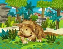 Cartoon dinosaur triceratops Royalty Free Stock Photography