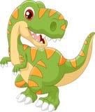 Cartoon dinosaur tyrannosaurus look to the side Royalty Free Stock Image