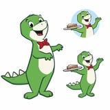 Cartoon Dinosaur. Cartoon vector illustration of a cute dinosaur for design element Stock Photos