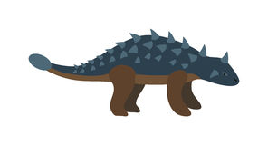 Cartoon dinosaur vector illustration. Royalty Free Stock Photo