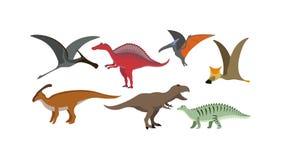 Cartoon dinosaur vector illustration. Stock Image