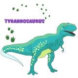 Cartoon dinosaur vector illustration Stock Photography