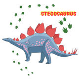 Cartoon dinosaur vector illustration Royalty Free Stock Photography