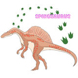 Cartoon dinosaur vector illustration Stock Images