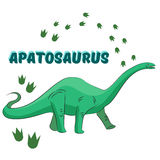 Cartoon dinosaur vector illustration Stock Photos