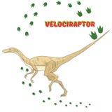 Cartoon dinosaur vector illustration Stock Image