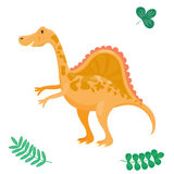 Cartoon dinosaur vector illustration isolated monster animal dino prehistoric character reptile predator jurassic comic Royalty Free Stock Photo