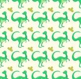 Cartoon dinosaur vector illustration seamless patern monster animal dino prehistoric character reptile predator jurassic Stock Photography